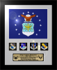 Framed Air Force Flag Gift 12 x 15 Air Force Framed Guidons,Gifts, Awards