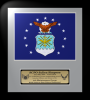 Framed Air Force Flag Gift 12 x 13 Air Force Framed Guidons,Gifts, Awards