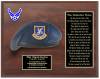 Air Force Beret Plaque 12 x 15  Air Force Security Forces Specific Gifts