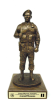 Air Force Security Force Statue on Walnut Base Air Force Security Forces Specific Gifts