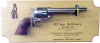 Standard Alder Military Pistol Plaque Army Pistol Displays