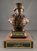 Kevlar Bust Soldier Statue on Walnut Base Army Soldier Statue | Figurine