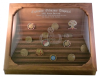 Challenge Coin Display - 100 Coin Step in Glass Challenge Coin Displays
