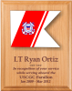 Coast Guard Lasered Guidon Plaque Coast Guard Guidon Plaques