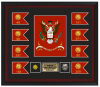 Framed Army Colors and Guidons 18 x 20  Custom Framed Army Colors | Army Retirement
