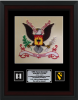 Framed Single Mat Army Colors  12 x 16  Custom Framed Army Colors | Army Retirement