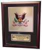 Framed Double Mat Army Colors  16x20 Custom Framed Army Colors | Army Retirement