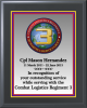 Full Color Military Crest Plaque Economy Award Plaques | Budget Plaques