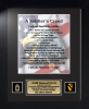 Army Soldier's Creed 11 x 14 Framed Army Gifts, Creeds, Awards