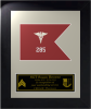 Framed Simulated Army Guidon Award  Framed Army Guidons