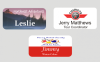 1 1/2 X 3  Full Color Name Badges | Name Tags