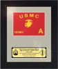 Framed Marine Corps Simulated Guidon Gift  Marine Corps Guidons