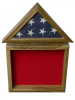 Flag Holder/Shadow Box Marine Corps Retirement Gifts