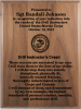 Marine Corps Drill Instructors Creed Walnut Plaque  Marine Corps Retirement Gifts