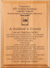 Soldier's Creed Plaque Military Creed Plaques