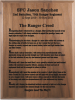 Ranger Creed Walnut Plaque Military Creed Plaques