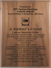 Soldier's Creed Walnut Plaque Military Creed Plaques