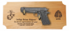 Standard M1911 Alder Pistol DIsplay Military Pistol Plaque Displays