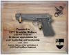Large M1911 Walnut Pistol DIsplay Military Pistol Plaque Displays