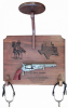 Cavalry Stetson Display with Military Pistol Military Pistol Plaque Displays