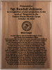 Marine Corps NCO Creed Walnut Plaque Military Retirement Gift Plaques