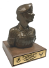Air Force Security Force Female Bust on Walnut Base Military Retirement Gift Statues