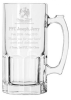 32 Oz. Glass Super Mug Personalized Wedding Gifts
