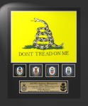 Framed Don't Tread on Me Flag Gift 12 x 15  Air Force Framed Guidons,Gifts, Awards
