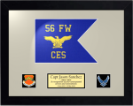 Framed Air Force Guidon Gift 16 x 20 Air Force Guidons | Framed