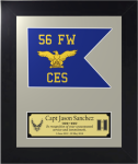Framed Air Force Simulated Guidon Gift  Air Force Guidons   Framed
