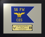 Framed Air Force Simulated Guidon Gift  Air Force Guidons | Framed