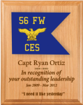 Air Force Lasered Guidon Plaque Air Force Plaques | Laser Cut Designs