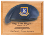 Air Force Beret Plaque - 8 x 10 Alder Air Force Security Forces Specific Gifts