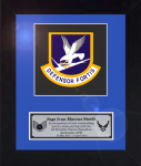 Framed Air Force Security Force Patch Award  Air Force Security Forces Specific Gifts