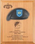 Army Beret Plaque - 12 x 15 Alder Army Beret Lasered Plaques