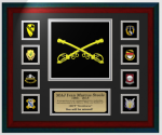 Framed Embroidered/Laser-cut Army Cavalry Award Army Cavalry Gifts | Awards