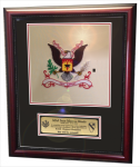 Framed Double Mat Army Colors  16x20 Army Cavalry Gifts | Awards