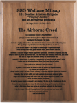 Airborne Creed Walnut Plaque Army Creed Plaques