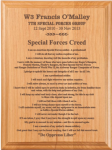 Special Forces Creed Plaque Army Creed Retirement Plaques