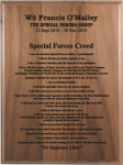 Special Forces Creed Walnut Plaque Army Creed Retirement Plaques