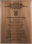 Army Quartermaster Creed Walnut Plaque Army Creed Retirement Plaques