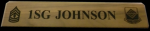 Walnut Military Name Desk Wedge Army Desk Name Plates