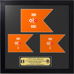 Framed Simulated Army Guidon Award   Army Guidon Plaques