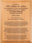 NCO Creed Plaque 9 x 12 Army NCO Retirement Gifts