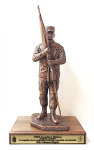 Command Sergeant Major with Cap Statue Army NCO Retirement Gifts