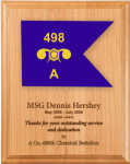 Army Lasered Guidon Plaque Army Plaques | Guidon
