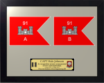 Framed Simulated Army Guidon Award  Army Plaques | Guidon