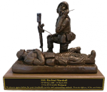 Combat Medic - Corpsman  with Radio - Female Army Soldier Statue | Figurine