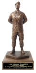 Parade Rest with Beret Statue -Female Army Soldier Statue | Figurine