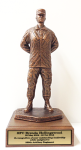 Parade Rest with Cap Statue -Female Army Soldier Statue | Figurine